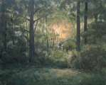"<h5>Soir dans la Forêt</h5><p>Oil on canvas, 51¼"" x 63¾"" (130 x 162cm)</p>"