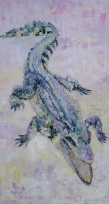 """<h5>Good old fashioned lover boy</h5><p>Oil on canvas, 52"""" x 28"""" (106.7 x 71cm)</p>"""