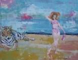 "<h5>Lazy sunbathers</h5><p>Oil on canvas, 31"" x 40"" (78.7 x 101.6cm)</p>"