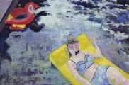 "<h5>I say Miami you say LA</h5><p>Oil on canvas, 18"" x 27"" (46 x 68.6cm)</p>"