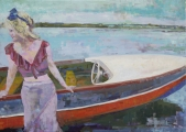 """<h5>It is not going to rain today</h5><p>Oil on canvas, 20"""" x 28"""" (50.8 x 71cm)</p>"""