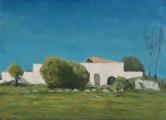 """<h5>Ferme blanche</h5><p>Oil on canvas, 28¾"""" x 39½"""" (73 x 100cm)</p>"""