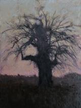 """<h5>Vieux pommier en hiver</h5><p>Oil on canvas, 51"""" x 38"""" (130 x 97cm)</p>"""