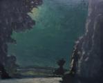 "<h5>Promenade nocturne</h5><p>Oil on canvas, 25½"" x 32"" (65 x 81cm)</p>"