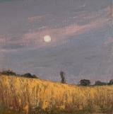 "<h5>Lune face au soleil </h5><p>Oil on canvas, 17¾"" x 17¾"" (45 x 45cm)</p>"