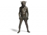 "<h5>Standing Minotaur</h5><p>Bronze, 47"" x 22½"" x 22½"" (119.4 x 57 x 57cm)</p>"