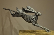 "<h5>Fear and Joy</h5><p>Bronze, 20"" x 40"" (51 x 102 cm)																																																																																		</p>"