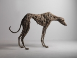 "<h5>Hang Dog</h5><p>Bronze, 32"" x 49"" x 8½"" (81 x 124 x 22cm)																																																																																				</p>"