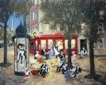 """<h5>Soir Tranquille dans le Vieux Paris</h5><p>Acrylic on board, 13"""" x 16"""" (33 x 40.7cm)</p>"""