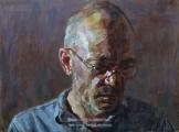 """<h5>Pour cette sombre nuit…Autoportrait 1831</h5><p>Oil on Canvas, 38"""" x 51"""" (96.5 x 129.5cm)</p>"""