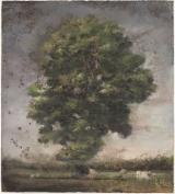 """<h5>L'arbre aux vaches</h5><p>Pastel on paper, 43¼"""" x 48¾"""" (110 x 124cm)</p>"""