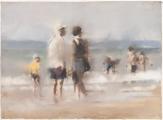 """<h5>Le garçon en jaune</h5><p>Pastel on paper, 22½"""" x 30½"""" (57 x 77.5cm)</p>"""