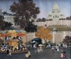 """<h5>Manège à Montmartre</h5><p>Acrylic on board, 21"""" x 25½"""" (53.3 x 64.7cm)</p>"""