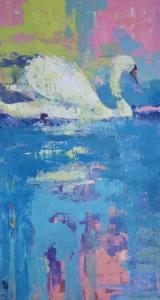 "<h5>No Sense of Time</h5><p>Oil on canvas, 60"" x 32"" (152.4 x 81.3cm)</p>"