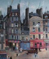 "<h5>Rue des Vertus</h5><p>Acrylic on board, 18"" x 15"" (45.7 x 38cm)																																																																																																																																							</p>"