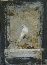 "<h5>Bird</h5><p>Digigraph: Monoprint with oil and wax on board, 45½"" x 35"" (116 x 89cm)																																																																																																																																																																																																																																																																																																																																																																																																				</p>"