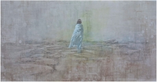 """<h5>The Geography of Hope</h5><p>Acrylic on canvas, 48"""" x 100"""" (122 x 254cm)</p>"""