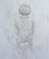 "<h5>Study II</h5><p>Graphite on paper, 14"" x 17"" (35.5 x 17.75cm)</p>"