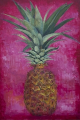 "<h5>Pineapple, Pineapple, Pineapple</h5><p>Oil on canvas, 44"" x 30"" (111.7 x 76.2cm)																																																																																																																																																																																																																																																																																																	</p>"