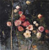 "<h5>Variation of Flowers</h5><p>Oil and wax on canvas, 39½"" x 39½"" (100 x 100cm)																																																																																																																																																																																																																																																																																																																	</p>"