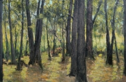 "<h5>Sous Bois</h5><p>Oil on canvas, 59¼"" x 90½"" (150 x 230cm)																																																																																																						</p>"