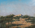 "<h5>Cortijo</h5><p>Oil on canvas, 19¾"" x 24"" (50 x 61cm)																																																																																																						</p>"