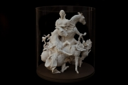 "<h5>Farewell Carousel III</h5><p>Plaster, fabric, wood, acrylic, 23½"" x 20"" x 20"" (59.6 x 50.8 x 50.8cm)</p>"