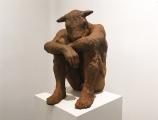 "<h5>Sitting Minotaur</h5><p>Resin–iron oxide, 15½"" x 14"" x 10"" (39.4 x 35.5 x 25.4cm)</p>"
