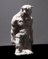 "<h5>Standing Minotaur (¾ Study)</h5><p>Plaster, 9"" x 15"" x 8¼"" (22.8 x 38 x 21cm)</p>"