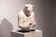 "<h5>Large Minotaur Bust (With Bird)</h5><p>Plaster, 20"" x 9¾"" x 9¾"" (50.8 x 24.7 x 24.7cm)																																																																																																																																																																																																																																																																																																																																																																																																							</p>"