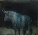 "<h5>Toro Bravo no. 45</h5><p>Oil on linen, 60"" x 55"" (152 x 140cm)																																																																																																						</p>"