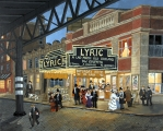 "<h5>Lyric Theater</h5><p>Acrylic on board, 12"" x 16"" (33 x 40.6cm)																																																																																																																																																																																																																																															</p>"