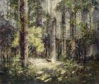 """<h5>Le Sommeil du Voyageur</h5><p>Pure pigment, marble powder, and acrylic on canvas, 47¼"""" x 55"""" (120 x 140cm)</p>"""