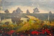 """<h5>Sweet Yellow Lake</h5><p>Acrylic and oil on canvas, 31½"""" x 47¼"""" (80 x 120cm)</p>"""