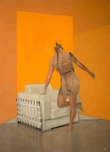 "<h5>Mannequin in Orange</h5><p>Oil on canvas, 52"" x 38"" (106.7 x 96.5cm)																																																																																																																																																									</p>"