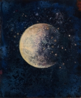 "<h5>Lunaison I</h5><p>Pure pigment, marble powder, and acrylic on board, 11¾"" x 10"" (29.9 x 25cm)																																																																																																						</p>"
