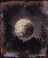"<h5>Lunaison II</h5><p>Pure pigment, marble powder, and acrylic on board, 11¾"" x 10"" (29.9 x 25cm)																																																																																																						</p>"