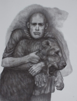 "<h5>Lion Tamer</h5><p>Charcoal on paper, 50 x 38"" (127 x 97cm) </p>"