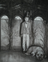 "<h5>The Forgetting Room</h5><p>Charcoal on paper, 50 x 38"" (127 x 97cm) </p>"