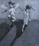 <h5>If These Wings Should Fail Me</h5><p>Charcoal on paper, 48 x 57″ (122 x 145cm)</p>