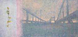 "<h5>The Bridge</h5><p>Acrylic on canvas, 48"" x 100"" (122 x 254cm)</p>"