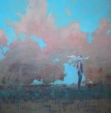 "<h5>Wind Flower</h5><p>Acrylic on canvas, 48"" x 48"" (122 x 122)</p>"