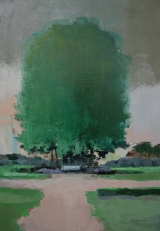 "<h5>Parc Monceau </h5><p>Oil on canvas, 36¼"" x 25½"" (92 x 65cm)																																																			</p>"