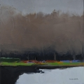 "<h5>Bois de Vincennes </h5><p>Oil on canvas, 15⅔"" x 15⅔"" (40 x 40cm)																																																			</p>"