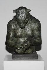 "<h5>Large Minotaur Bust (with bird)</h5><p>Bronze, 20"" x 14"" x 16"" (51 x 25 x 25cm)																																																																																																																																																																																											</p>"