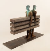 "<h5>Enfados</h5><p>Bronze, wood, and iron, 27½"" x 10"" x 31½"" (70 x 25 x 80cm)																																																																																																																																																									</p>"