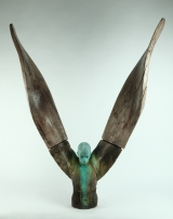 "<h5>Helicoide IV</h5><p>Bronze and wood, 50"" x 45"" x 12¼"" (127 x 114 x 31cm)																																																																																																																																																									</p>"