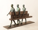 "<h5>Caminantres</h5><p>Bronze, wood, and iron, 26¾"" x 27½"" x 9¾"" (68 x 70 x 25cm)																																																																																																																																																																										</p>"
