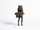 "<h5>Fox and Pheasant </h5><p>Bronze, 28"" x 9½"" x 7"" (71.1 x 24.1 x 17.7cm)																																																																																																																																																									</p>"
