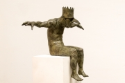 "<h5>King of the Birds </h5><p>Bronze, 47"" x 22"" x 33"" (119.3 x 55.8 x 83.8cm)																																																																																																																																																									</p>"